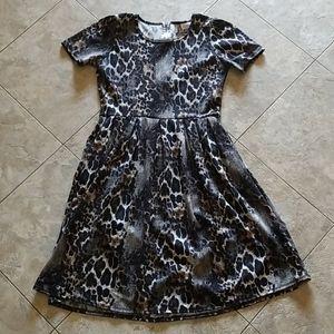 LulaRoe Leopard print Amelia dress